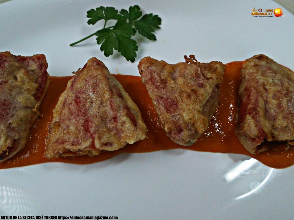 Pimientos del piquillo rellenos de carne